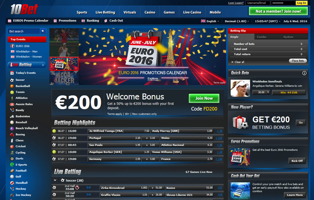 10bet Website