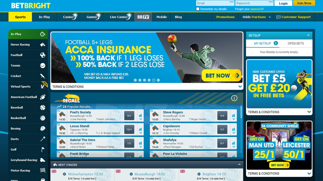 Betbright live chat