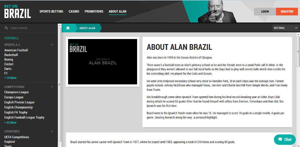 Bet on Brazil Alan Brazil