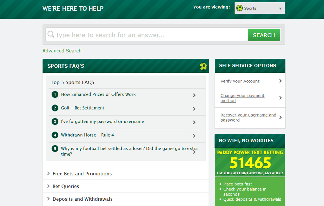 paddy power live betting rules