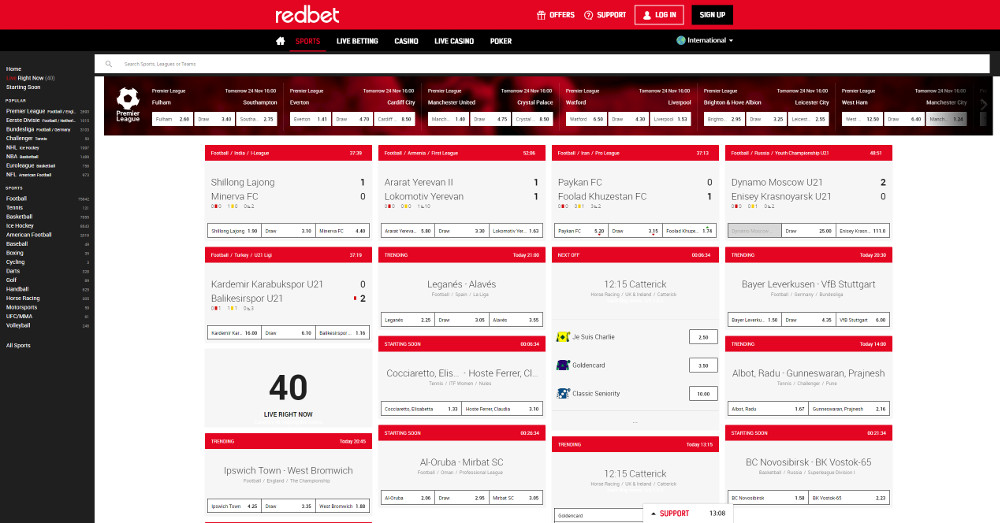 Review of Redbet Sportsbook