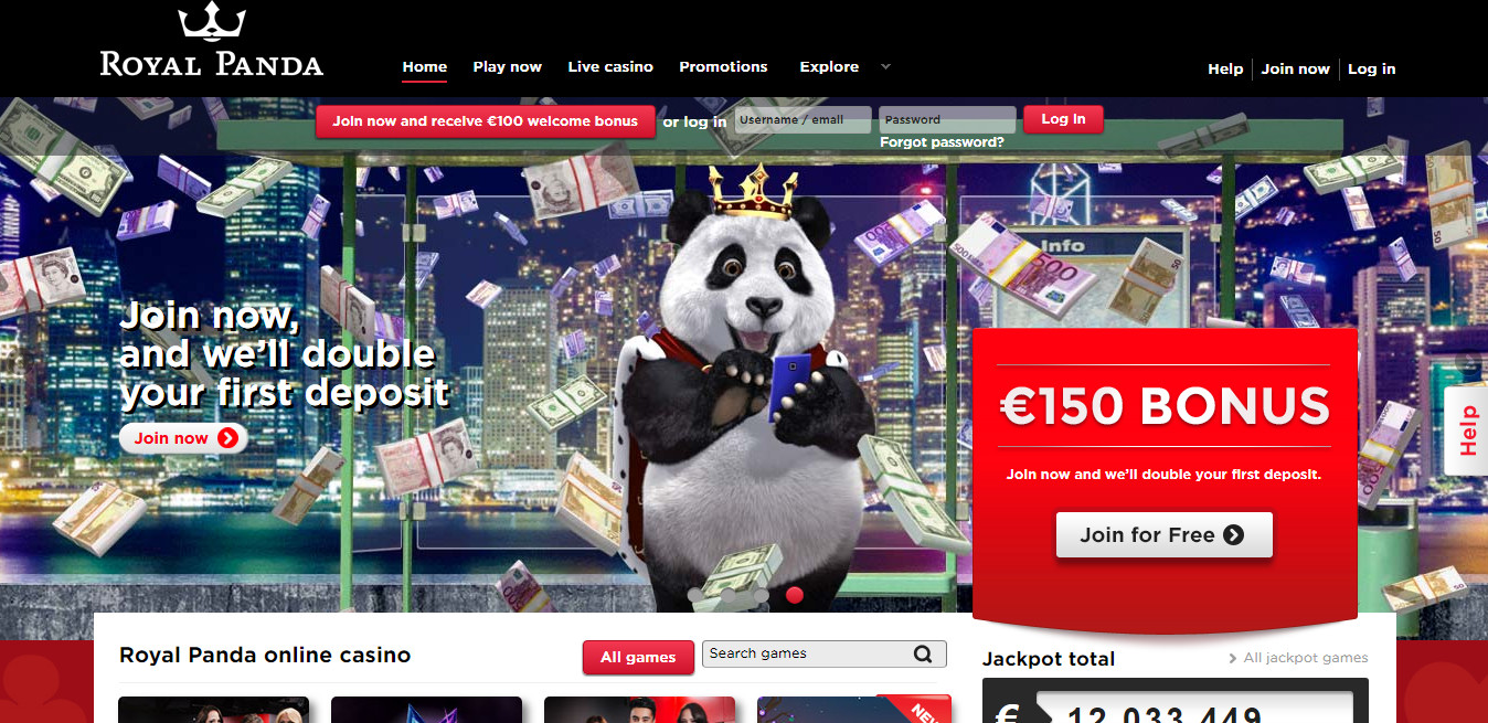 Royal Panda Homepage