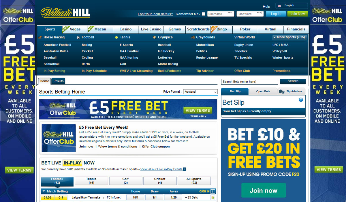william hill info